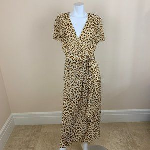 Escada Silk Leopard Print Maxi Dress